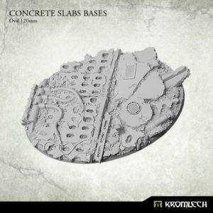 Kromlech   Concrete Slabs Bases Concrete Slabs Oval 120mm (1) - KRRB020 - 5902216116092