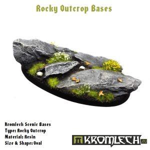 Kromlech   Rocky Outcrop Bases Kromlech Rocky Outcrop Oval 75mm (1) - KRRB008 -