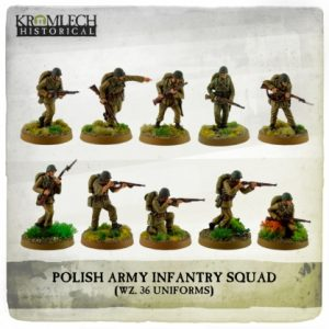 Kromlech   Kromlech Historical Polish Army Infantry Squad (wz. 36 uniforms) (10) - KHWW2001 - 5902216117570