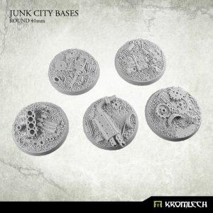 Kromlech   Junk City Bases Junk City round 40mm (5) - KRRB040 - 5902216113510