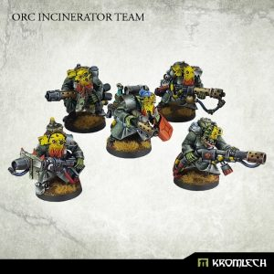 Kromlech   Orc Model Kits Orc Greatcoat Incinerator Team (5) - KRM088 - 5902216113565