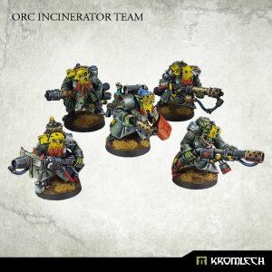Kromlech   Orc Model Kits Orc Greatcoat Incinerator Team (5) - KRM088 - 5902216113565
