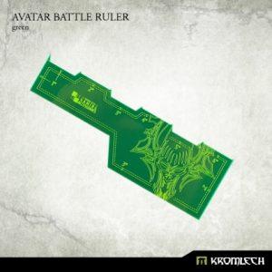Kromlech   Tapes & Measuring Sticks Avatar Battle Ruler [green] (1) - KRGA009 - 5902216114043