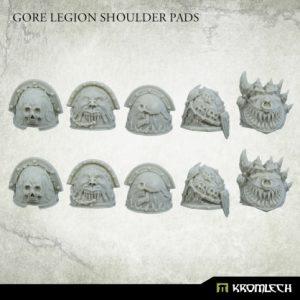 Kromlech   Heretic Legionary Conversion Parts Gore Legion Shoulder Pads (10) - KRCB247 - 5908291070045