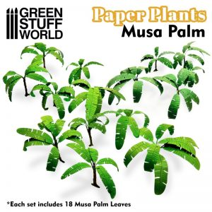Green Stuff World   Plants & Flowers Paper Plants - Musa Palm - 8436574508734ES - 8436574508734