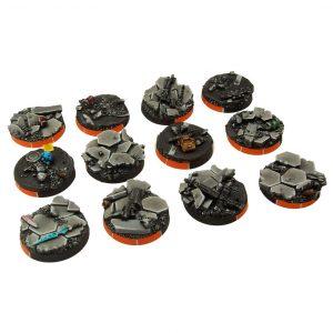 Micro Art Studio   Urban Fight Bases Urban Fight Arc Bases, Round 25mm (5) - B03471 - 5907652560980