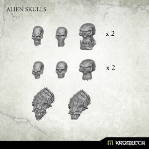Kromlech   Basing Extras Alien Skulls (14) - KRBK010 - 5902216114845