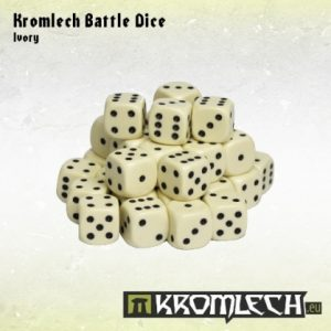 Kromlech   Kromlech Dice Battle Dice 35x Ivory12mm - KRGA001 - 5902216112292