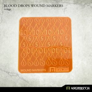Kromlech   Status & Wound Markers Blood Drops Wound Markers [orange] - KRGA043 - 5902216115033