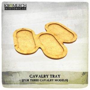 Kromlech   Movement Trays Cavalry Tray (for 3 cavalry models) 3x - KHBAS013 - 5902216118348
