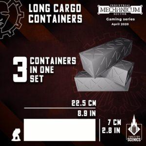 Kromlech   Kromlech Terrain Long Cargo Containers (3) - KRTS130 - 5908291070106