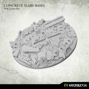 Kromlech   Concrete Slabs Bases Concrete Slabs Oval 120mm flyer (1) - KRRB021 - 5902216116108