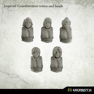 Kromlech   Imperial Guard Conversion Parts Imperial Guardswoman torsos and heads (5) - KRCB150 - 5902216113374