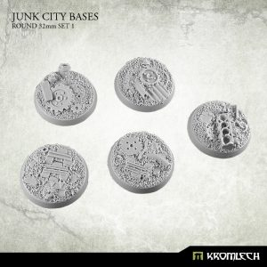 Kromlech   Junk City Bases Junk City round 32mm (5) set1 - KRRB039 - 5902216113503