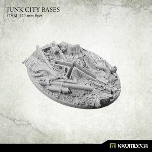 Kromlech   Junk City Bases Junk City oval 120mm [flyer] (1) - KRRB045 -