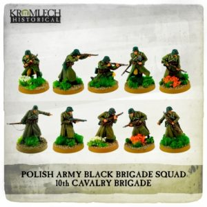 Kromlech   Kromlech Historical Polish Army Black Brigade Squad (10) - KHWW2029 - 5902216119079