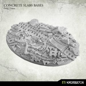 Kromlech   Concrete Slabs Bases Concrete Slabs Oval 170mm (1) - KRRB057 -