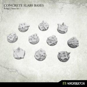 Kromlech   Concrete Slabs Bases Concrete Slabs Round 25mm Set 1 (10) - KRRB012 - 5902216116344