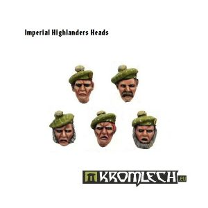 Kromlech   Imperial Guard Conversion Parts Imperial Highlanders Heads (10) - KRCB071 - 5902216110694