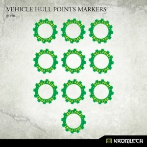 Kromlech   Status & Wound Markers Vehicle Hull Points Markers [green] (10) - KRGA022 - 5902216114173