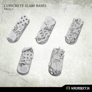 Kromlech   Concrete Slabs Bases Concrete Slabs Bike 70x25mm Set 2 (5) - KRRB055 -