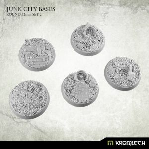 Kromlech   Junk City Bases Junk City round 32mm (5) set2 - KRRB044 - 5902216113558