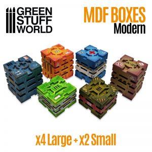 Green Stuff World   Green Stuff World Terrain Sci-Fi Crates - 8436574507980ES - 8436574507980