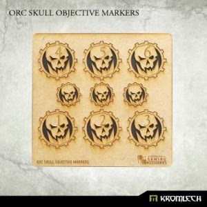 Kromlech   Objective Markers Orc Skull Objective Markers [HDF] - KRGA048 - 5902216115170