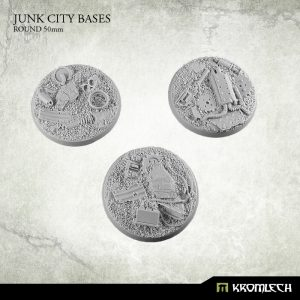Kromlech   Junk City Bases Junk City round 50mm (3) - KRRB041 -