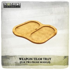 Kromlech   Movement Trays Weapon Team Tray (for two prone models) 5x - KHBAS009 - 5902216118300