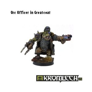 Kromlech   Orc Model Kits Orc Officer in Greatcoat - KRM016 - 5902216111417