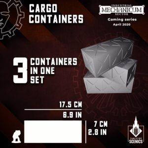 Kromlech   Kromlech Terrain Cargo Containers (3) - KRTS129 - 5908291070090