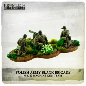 Kromlech   Kromlech Historical Polish Army Black Brigade wz. 30 Machine Gun team (MG and three crew) - KHWW2036 - 5902216119123
