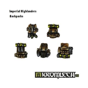 Kromlech   Imperial Guard Conversion Parts Imperial Highlander Backpacks (10) - KRCB101 - 5902216110991