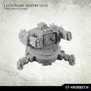 Kromlech   Legionary Model Kits Legionary Sentry Gun: Twin Heavy Flamer (1) - KRM091 - 5902216113596