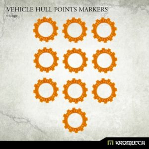 Kromlech   Status & Wound Markers Vehicle Hull Points Markers [orange] (10) - KRGA023 - 5902216114180