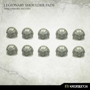 Kromlech   Heretic Legionary Model Kits Legionary Shoulder Pads: Dragon Pattern (10) - KRCB235 - 5902216119260