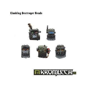 Kromlech   Orc Conversion Parts Clanking Destroyer Heads (10) - KRCB022 - 5902216110205
