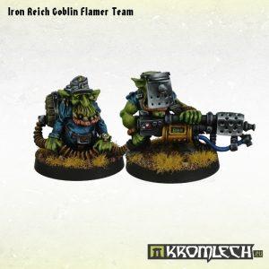 Kromlech   Orc Model Kits Iron Reich Goblin Flamer Team - KRM080 - 5902216113213
