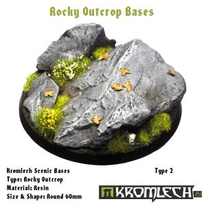 Kromlech   Rocky Outcrop Bases Kromlech Rocky Outcrop Round 60mm (1) - KRRB006 -
