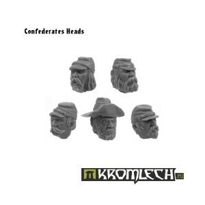 Kromlech   Imperial Guard Conversion Parts Confederates Heads (10) - KRCB045 - 5902216110434