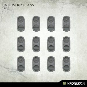 Kromlech   Kromlech Terrain Industrial Fans Set 2 (12) - KRBK043 - 5902216119574