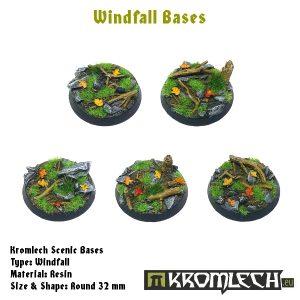 Kromlech   Windfall Bases Windfall round 32mm (5) - KRRB024 -