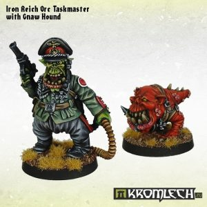 Kromlech   Orc Model Kits Iron Reich Orc Taskmaster with Gnaw Hound - KRM083 - 5902216113244