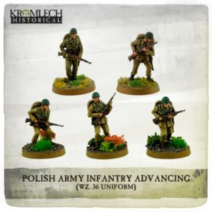 Kromlech   Kromlech Historical Polish Army Infantry (wz. 36 uniforms) advancing with rifles (5) - KHWW2004 - 5902216117600