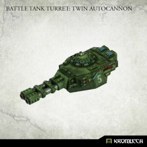 Kromlech   Imperial Guard Conversion Parts Battle Tank Turret: Twin Autocannon (1) - KRVB090 - 5902216119802