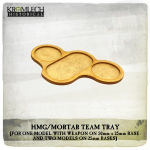 Kromlech   Movement Trays HMG/Mortar Team Tray (for three models and weapon) 4x - KHBAS011 - 5902216118324