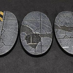 Baker Bases   Concrete Concrete: 90x52mmOval Bases (3) - CB-CN-01-90v - CB-CN-01-90v