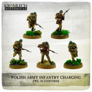 Kromlech   Kromlech Historical Polish Army Infantry (wz. 36 uniforms) charging with rifles (5) - KHWW2006 - 5902216117617