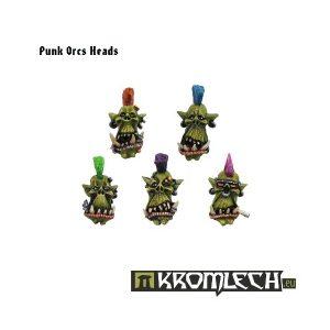 Kromlech   Orc Conversion Parts Punk Orcs Heads (10) - KRCB050 - 5902216110489